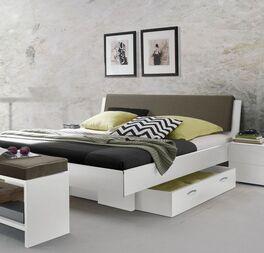 Jugendliches Bett Riverhead aus weißem Dekor