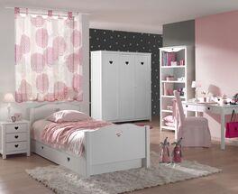 5-tlg Jugendzimmer Asami in Weiß für Mädchen
