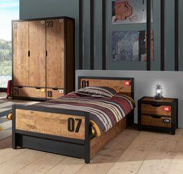 Jugendzimmer Beli aus cognacfarbener Kiefer