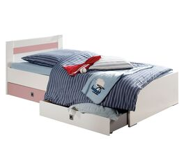 Kinderbett Embala mit Absetzungen in Rosé