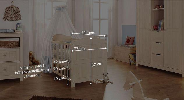 Bemaßungsskizze zum Kinderbett Finja