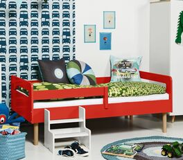Kinderbett Kids Town Retro mit halbseitiger Absturzsicherung