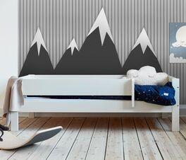 Schlichtes Kinderbett Tacora in Weiß