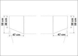 Größenverhältnisse von Kleiderschrank-Abschlusselementen