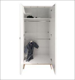 Kleiderschrank Beano inklusive Kleiderstangen und Fachboden