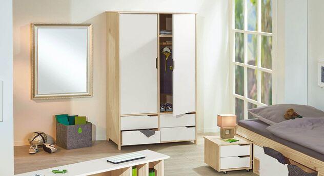 Schubladen-Kleiderschrank Erin für Jugendzimmer