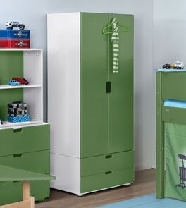 Kleiderschrank Kids Town Color mit Push-Mechanismus