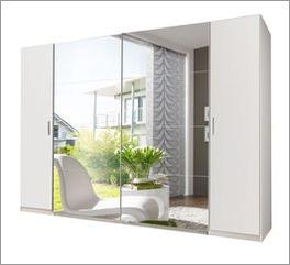 Großer Kleiderschrank Maniago mit vollflächigem Spiegel