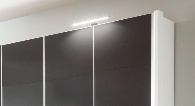 Drehtüren-Kleiderschrank Tramonti optional mit Beleuchtung und Seitenstollen