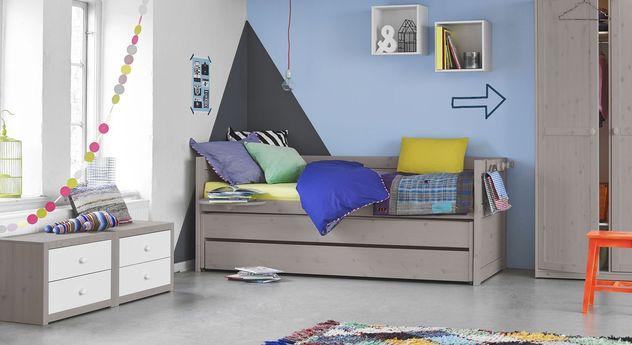 LIFETIME Kojen-Ausziehbett Original mit passender Kinderzimmer-Einrichtung