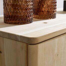 Kombi-Kommode Alistra aus unbehandeltem Holz