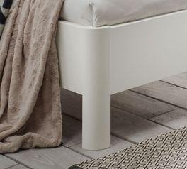 Modernes Komfort-Bett Castelli aus weißem Dekor