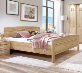 Stabiles Komfort-Doppelbett Bloomfield aus Eiche natur
