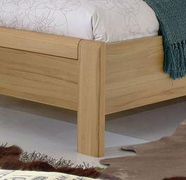 Komfort-Doppelbett Burbia aus pflegeleichtem Eiche-Dekor