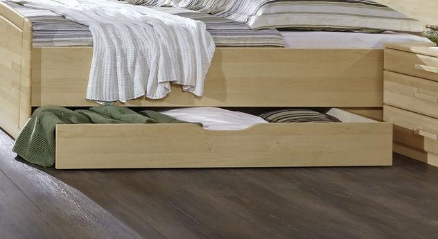 Komfort-Doppelbett Karia optional beidseitig mit Schubkästen