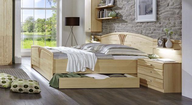 Komfort-Doppelbett Karia optional mit Bettschubkasten
