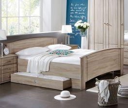 Komfort-Doppelbett Martano mit hohem Bettrahmen