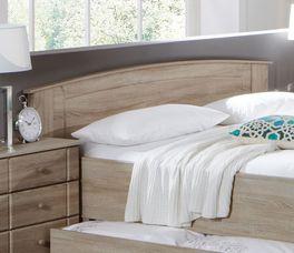 Komfort-Doppelbett Martano mit Zierelementen im Kopfteil