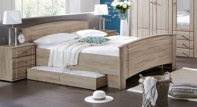 Preiswertes Komfort-Doppelbett Martano für Senioren geeignet