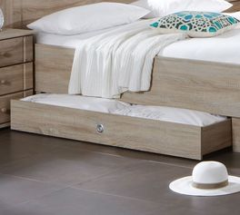 Komfort-Doppelbett Martano mit Schubkasten für zusätzlichen Stauraum