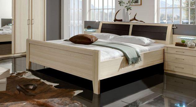 Komfort-Doppelbett Rapino ohne Kopfteil-Bettkasten
