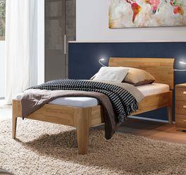 Komfort-Einzelbett Baleira aus geöltem Echtholz