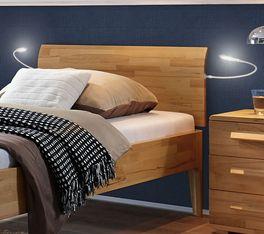 Komfort-Einzelbett Baleira mit gewölbtem Kopfteil