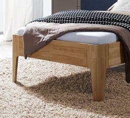 Robustes Komfort-Einzelbett Baleira mit natürlicher Maserung