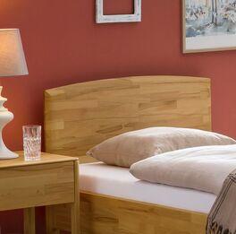 Komfort-Einzelbett Brunon mit natürlicher Holzmaserung