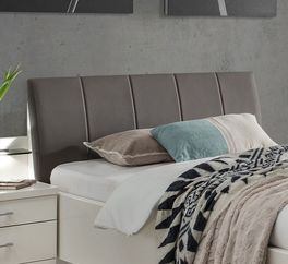 Komfort-Einzelbett Casperia mit weichem Kunstleder-Kopfteil