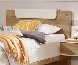 Komfort-Einzelbett Dolavon mit geradlinigem Kopfteil