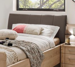 Komfort-Einzelbett Herdorf mit weichem Polsterkopfteil