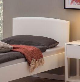 Komfort-Einzelbett Karol mit massivem Kopfteil