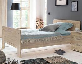 Komfort-Einzelbett Sinello in Eiche sägerau Dekor