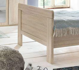 Komfort-Einzelbett Sinello mit Fußteil im Retro-Look