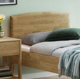Komfort-Einzelbett Stanis mit natürlichem Look