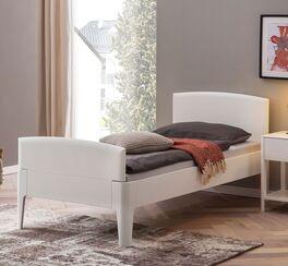 Einzelbett Karol mit Komfort-Höhe in Weiß