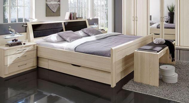Komfort-Schubkasten-Bett Rapino in Edel-Esche Dekor