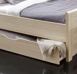 Komfort-Schubkasten-Bett Rapino in heller Holznachbildung