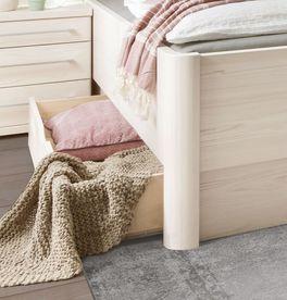 Komfort-Schubkastenbett Pegau mit abgerundeten Eckfüßen