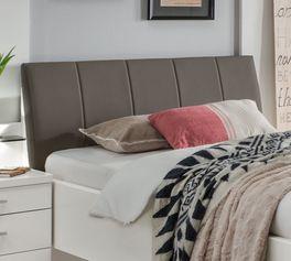 Komfortbett Castelli mit gewölbtem Kunstleder-Kopfteil