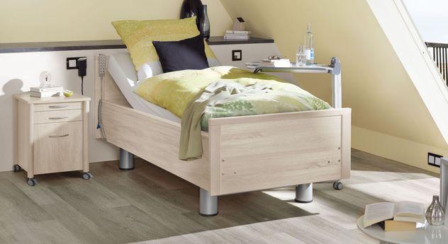 Komfortbett mit Pflegebett-Funktion Isar in Pinie polar Dekor