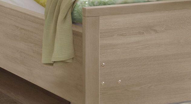 Komfortbett mit Pflegebett-Funktion Isar mit massivem Holzrahmen