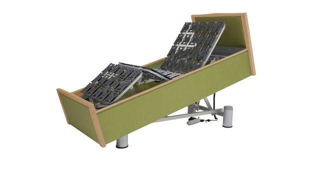 Robustes Komfortbett mit Pflegebett-Funktion mit einfacher Verstellung