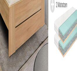 Komplett-Bett Ellmau mit Spannplatten-Kopfteil