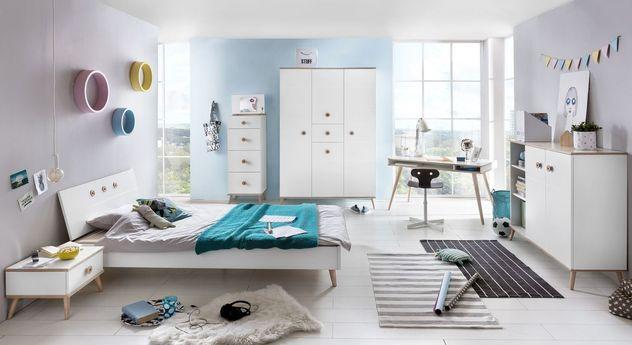 Preiswertes Komplett-Jugendzimmer Beano in Alpinweiß