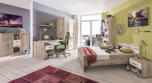 Komplett-Jugendzimmer Tropea mit Möbeln in Eiche-Dekor