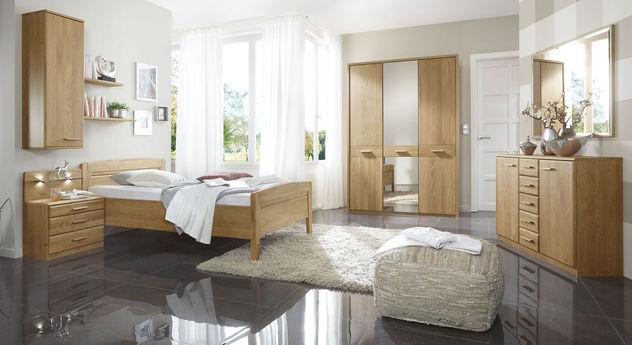Komplett-Schlafzimmer Agaro aus robuster Eiche