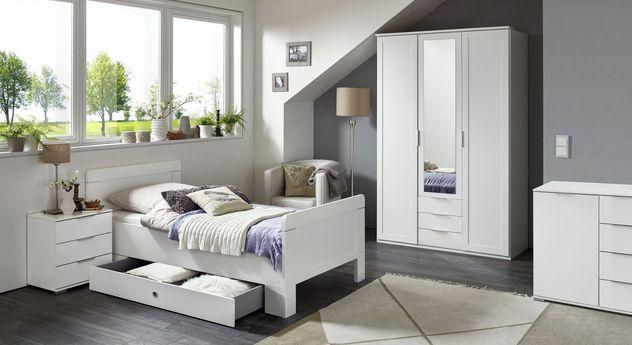 Komplett-Schlafzimmer Aradeo inklusive Funktions-Kleiderschrank
