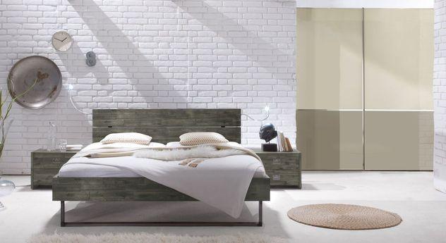 rustikal modernes komplett schlafzimmer industrie charme konna. Black Bedroom Furniture Sets. Home Design Ideas